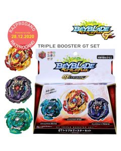 Beyblade BURST GT B-149 3 In 1 Triple Booster Set Lord Spriggan Dread Bahamut Slash Dragon