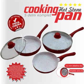 COOKING pan MARBLE Hot Stone